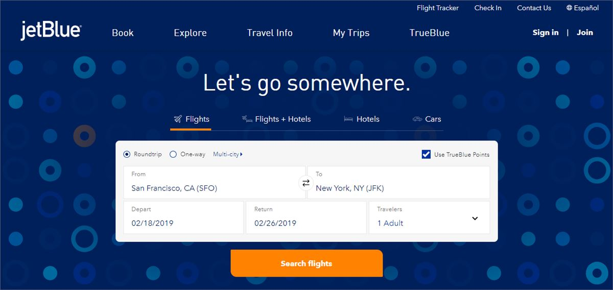 jetblue low fare calendar